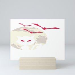 Halloween Vampire Cat Moon Bats Mini Art Print