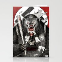quentin tarantino Stationery Cards featuring Inglourious Basterds (Quentin Tarantino) The Bear Jew by ARTbyGB