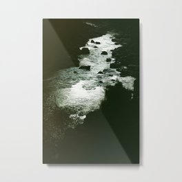 I'm still here at the water's edge. Metal Print