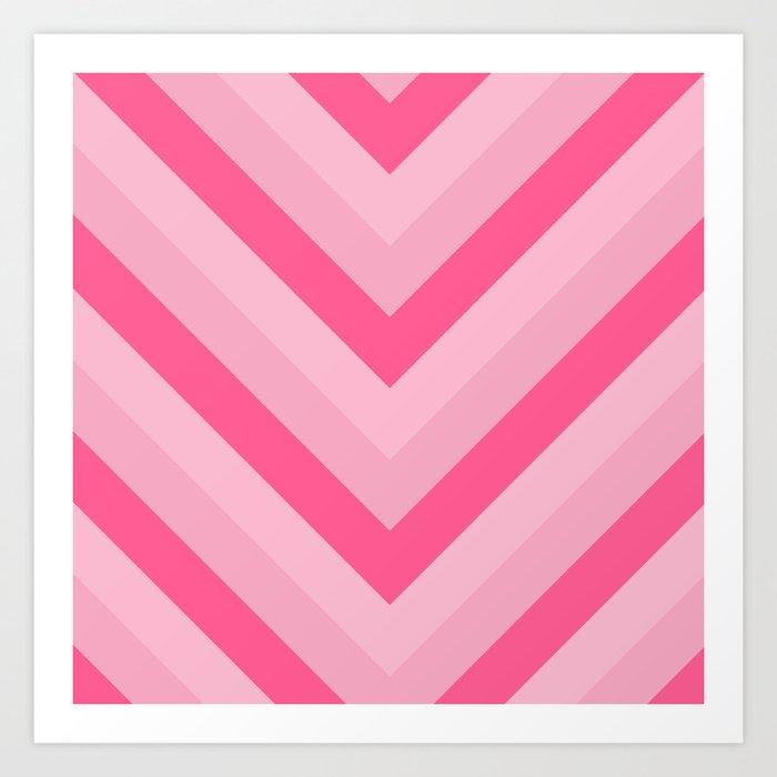 v lines - rose Art Print