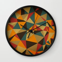 The Colorful Triangle Wall Clock