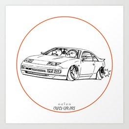 Crazy Car Art 0216 Art Print