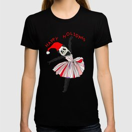 Happy Holidays Secret Santa Panda Ballerina T-shirt