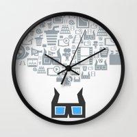 cinema Wall Clocks featuring Cinema by aleksander1