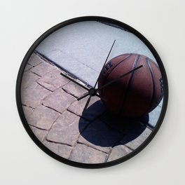 Basketball at Rest Wall Clock