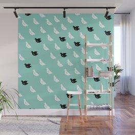 Flock of pigeons Wall Mural