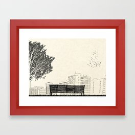 Tom's Favourite Spot — Angels Knoll Park, LA — (500) Days of Summer Framed Art Print