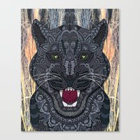 panther Canvas Prints featuring Panther by ArtLovePassion