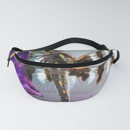 Dragonfly on Iris Fanny Pack