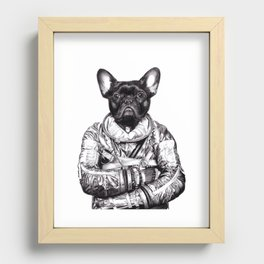 Astro Frog Recessed Framed Print