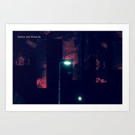 Lights of Bradford St Manipulation 2.0 Art Print