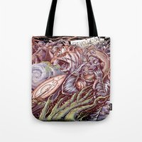 revolution Tote Bags featuring Revolution by Jeremy Kiraly