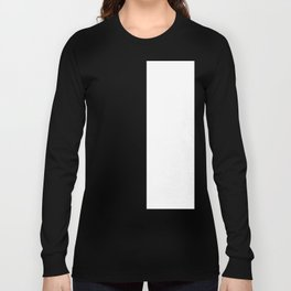 White and Black Vertical Halves Long Sleeve T-shirt