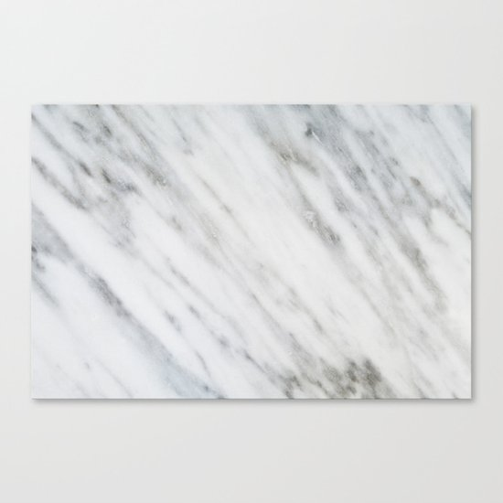 Carrara Italian Marble Canvas Print