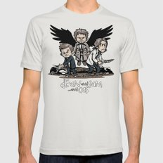 Dean and Sam... and Cas SMALL Mens Fitted Tee Silver