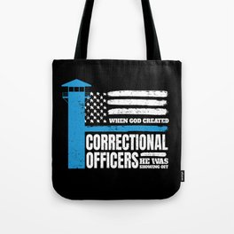 Correctional Officers American Christian Tote Bag
