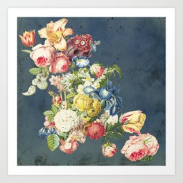Floral Tribute to Louis McNeice Art Print