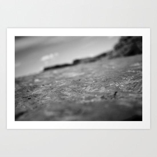Sandstone Waves Art Print