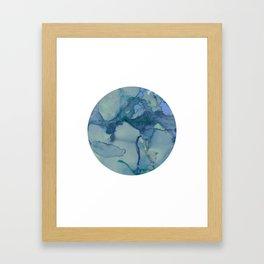 Turquoise Moon Framed Art Print