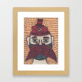 Mustache. Framed Art Print