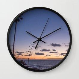 Indigo Evening Wall Clock