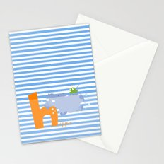 h for hippo Stationery Cards