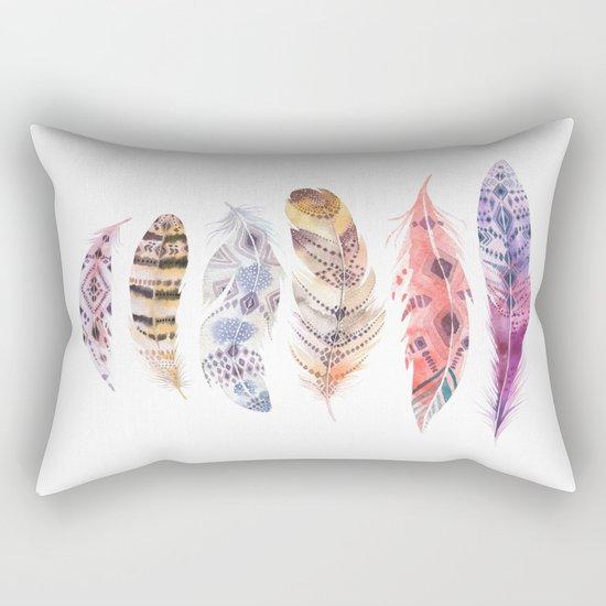 Falling Feather Rectangular Pillow