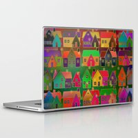 merry christmas Laptop & iPad Skins featuring Merry Christmas! by Klara Acel
