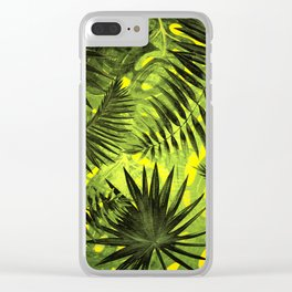 Tropical Leaves Aloha Jungle Garden Clear iPhone Case