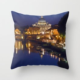 Sant Peter's Church in Rome Throw Pillow