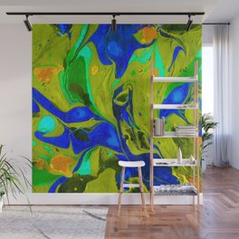 Green Flow Wall Mural
