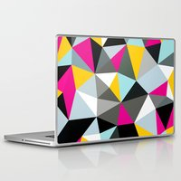 comic book Laptop & iPad Skins featuring Comic Book Tris by Beth Thompson