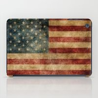 american flag iPad Cases featuring American Flag by KOverbee