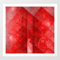 discount Art Prints featuring Ruby Nebulæ by Aaron Carberry