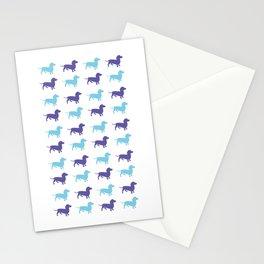 Sausage Dog Pattern Stationery Cards