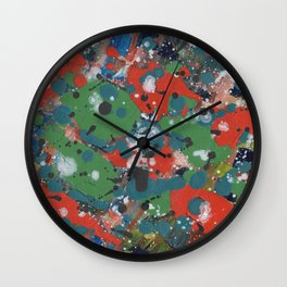 Orange Winter Wall Clock