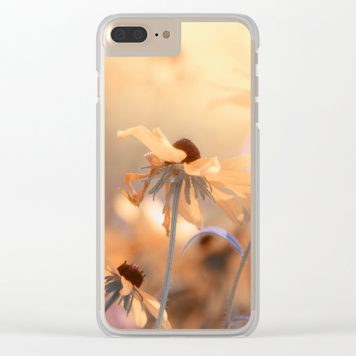 Suns star in the autumn garden Clear iPhone Case