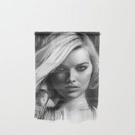 Margot Robbie Pencil Sketch Wall Hanging