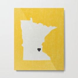 Minnesota Love Metal Print