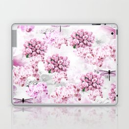 ORCHIDS ROSES MAGNOLIAS and Dragonflies Laptop & iPad Skin