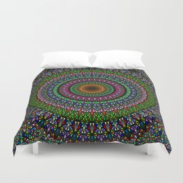 Hypnotic Church Window Mandala Duvet Cover