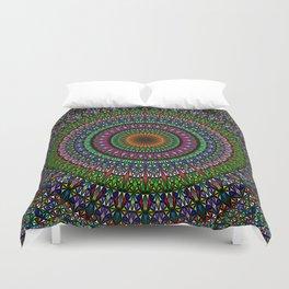Hypnotic Church Window Mandala Duvet Cover