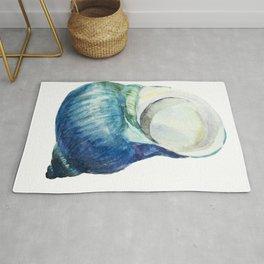 Blue Shell Rug