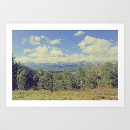 Boreas Pass Mountainscape Art Print