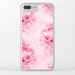 Light Red Peonies Dream #1 #floral #decor #art #society6 Clear iPhone Case