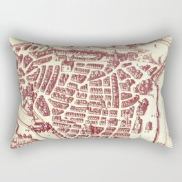 Vintage Map of Nice France (1624) Rectangular Pillow