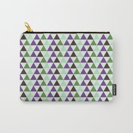 Geometrical purple green abstract triangles pattern Carry-All Pouch