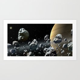 Within Saturn's Rings Art Print