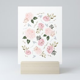 Floral Blossom - Muted Pink Mini Art Print