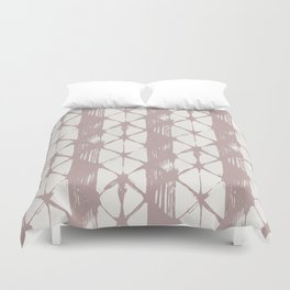 Simply Braided Chevron Clay Pink on Lunar Gray Duvet Cover